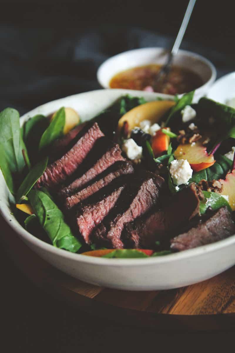 Nectarine and steak salad recipe