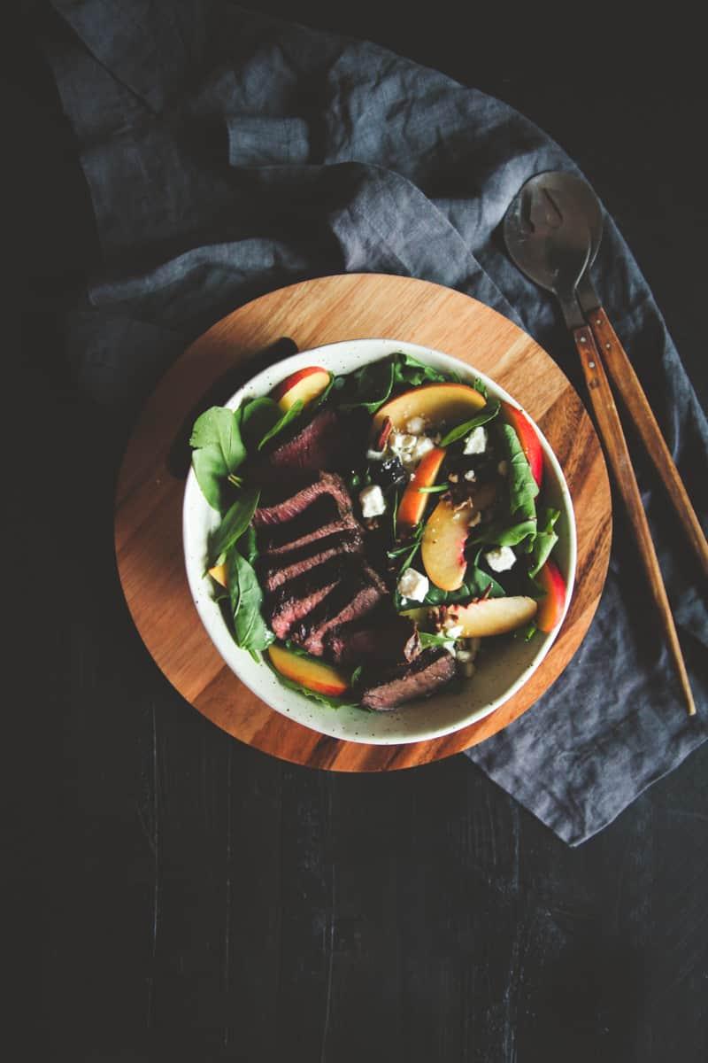 steak and nectarine salad recipe