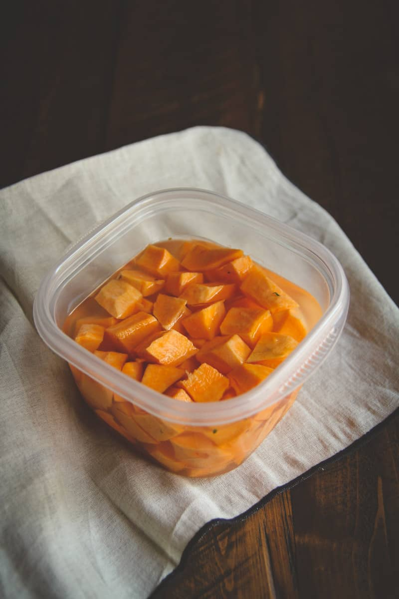 sweet potatoes made in the microwave