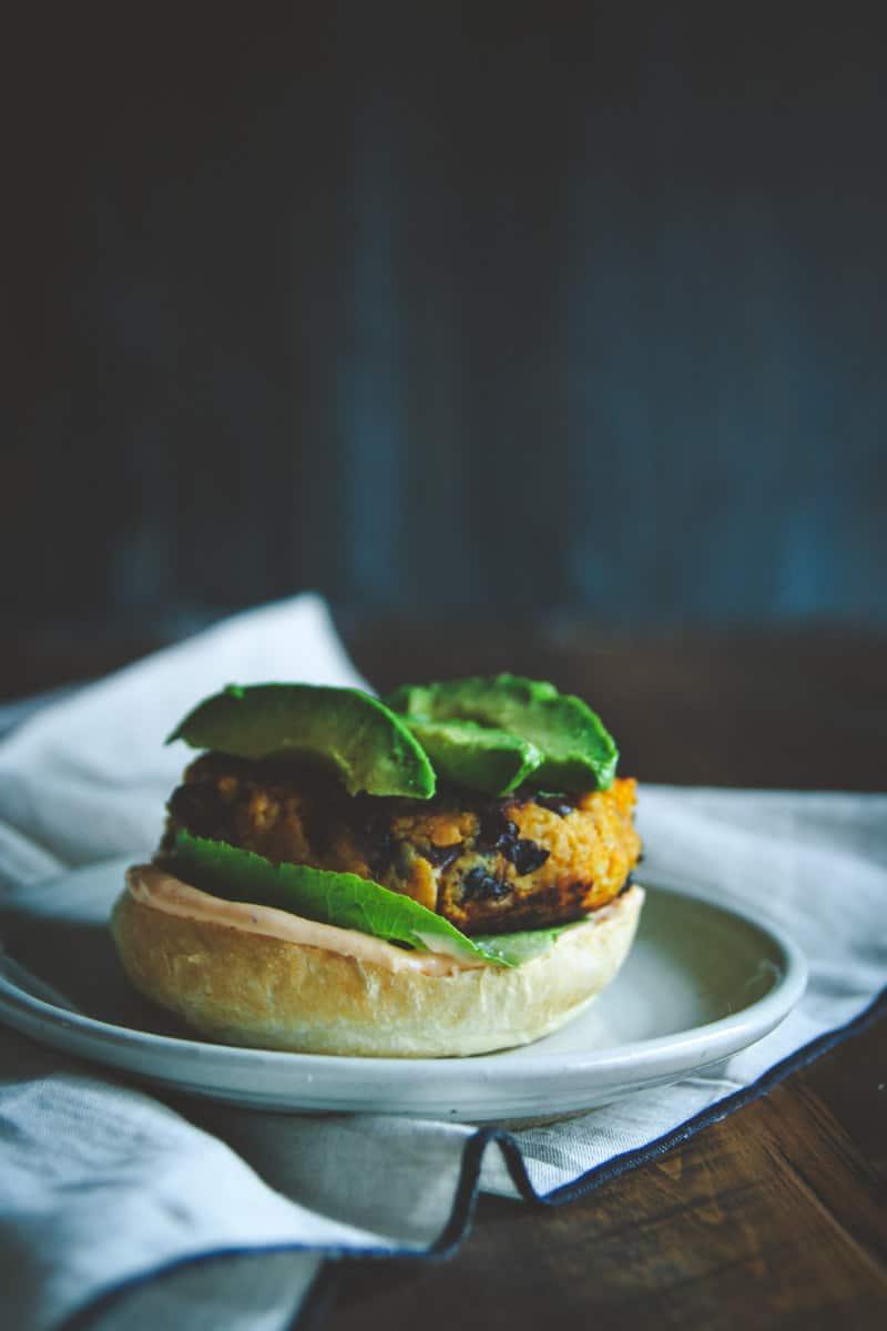 Easy weeknight sweet potato burgers, 20 minute meals