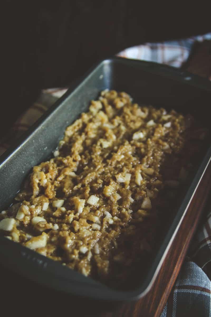Upside down apple and par loaf recipe