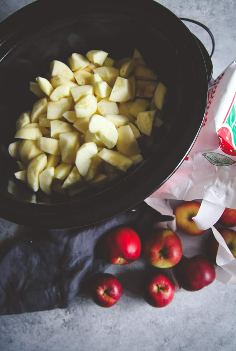 5 ingredient slow cooker apple butter
