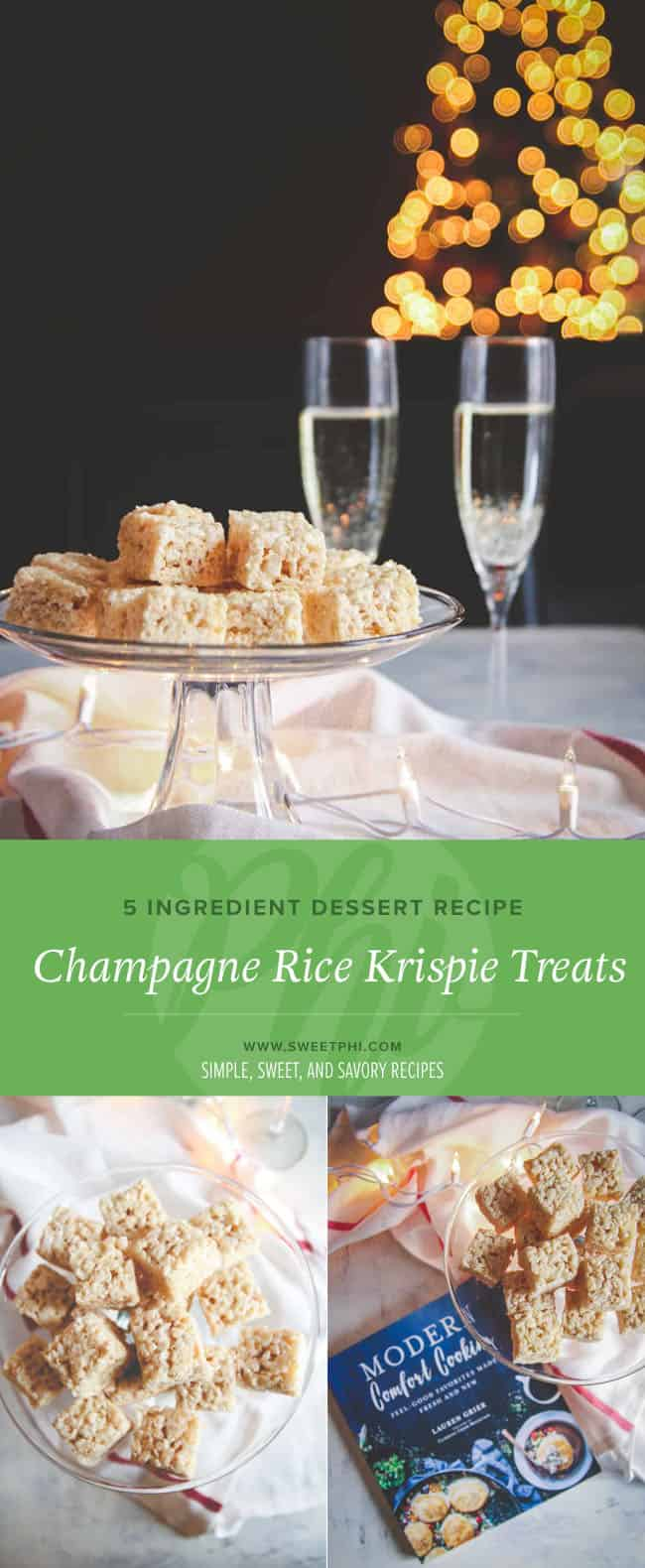 The perfect addition to any New Year's Party - champagne rice krispie treats! Sweet and Delicious!
