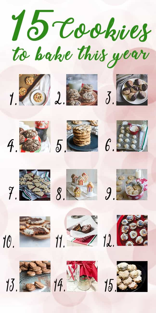 15 cookies to make this year - perfect for your holiday baking day!