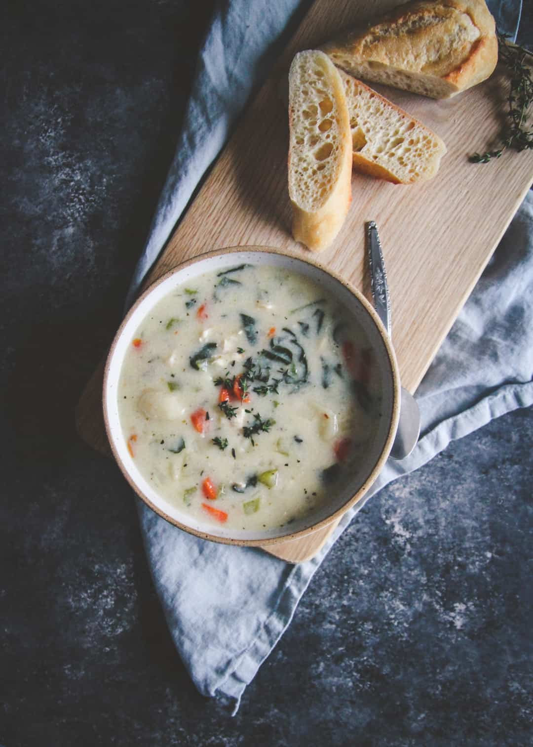 Healthy instant pot creamy chicken gnocchi soup, the most delicious easy healthy family dinner recipe