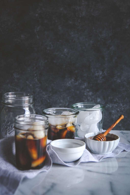 Homemade iced salted honey latte recipe