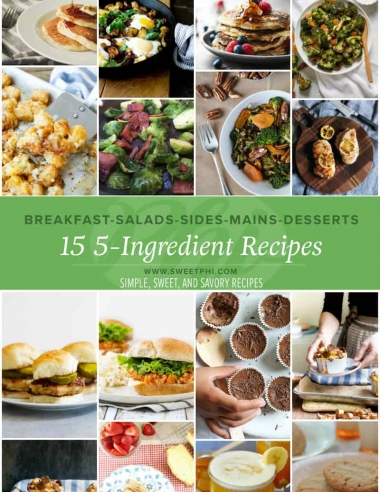 15 5-Ingredient Recipes {from my cookbook!}