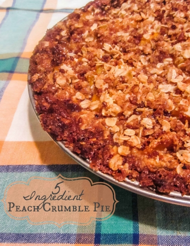 5 Ingredient Peach Crumble Pie