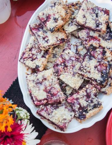 5 Ingredient Jam Crumb Bars