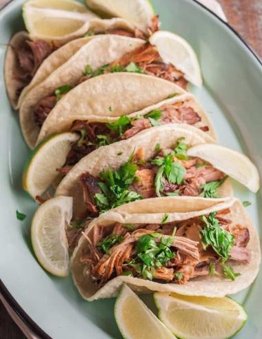 5 Ingredient Slow Cooker Pork Carnitas Tacos