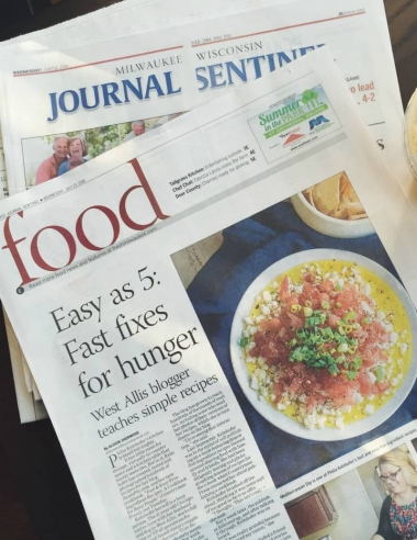 My cookbook was featured in the newspaper!