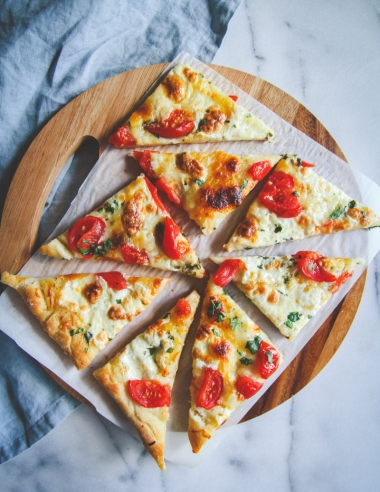 Fresh Herb Butter and Cheese Flatbread Recipe