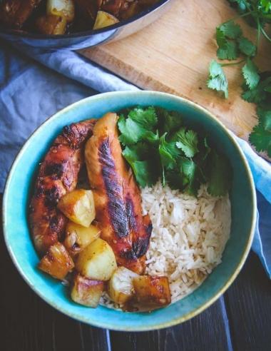 5 Ingredient Hawaiian Chicken and Rice Bowls