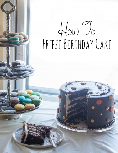 How to Freeze Cake {and my 30th birthday party overview}