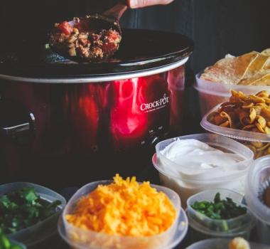 How to make a slow cooker chili bar for a party