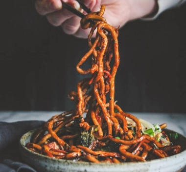 Vegetarian Japanese Pan Noodles