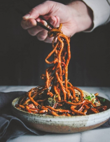 Vegetarian Japanese Pan Noodles