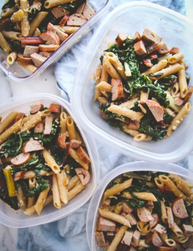 5 Ingredient Healthy Pasta for Meal Prep Lunches