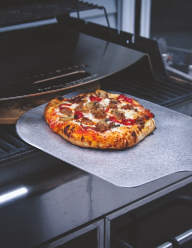 Pizza Made with a KettlePizza Gas Pro