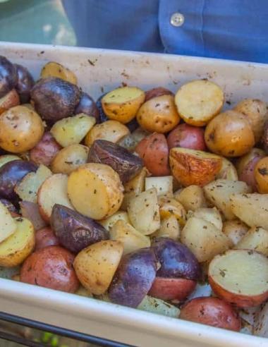 Roasted Potato and Kohlrabi Salad
