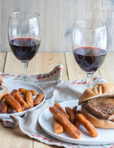 Mushroom and Wine Sirloin Steak Sandwiches