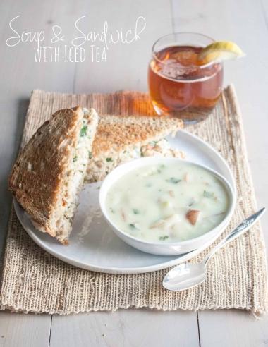 Vegetable Chicken Salad Sandwich & Leek Soup {Perfect way to Celebrate Summer}