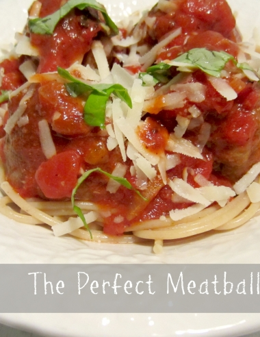 Five Ingredient Fridays – The Perfect Meatball