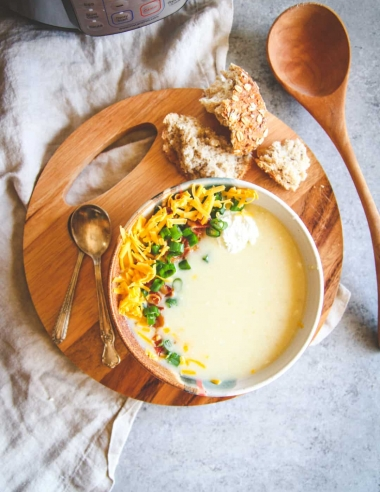 The Best Healthy Instant Pot Baked Potato Soup Recipe