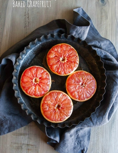 Brown Sugar and Honey Baked Grapefruit {& travel plans and SweetPhi on Snapchat!}