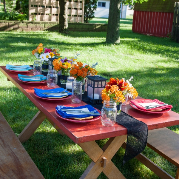 How to have a farm to table dinner in your back yard from @sweetphi